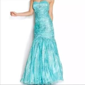 JUMP Turquoise Mermaid Prom Dress